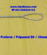 Jual Preform D6 35mm - Preform PLN- Kawt Preform PLN Kawat Preform PLN ini terbuat dari bahan kawat galvanis, alat ini digunakan untuk instalasi alat jaringan listrik PLN.